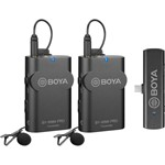 BOYA 2.4 GHz Wireless Microphone System for Android and other Type-C devices (Receiver and 2-Transmitters)